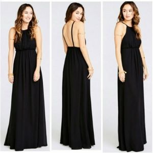 SHOW ME YOUR MUMU Amanda Maxi Dress Black L NWT